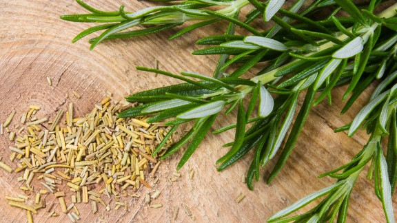 """Uniquely fragrant, rosemary has historically been known for its impact on memory. Shakespeare wrote about it in Hamlet, when Ophelia says to her brother Laertes, """"There's rosemary; that's for remembrance."""" <br /><br /><a href=""""https://www.ncbi.nlm.nih.gov/pmc/articles/PMC4749867/"""" target=""""_blank"""" target=""""_blank"""">Studies </a>have shown that rosemary has strong anti-inflammatory properties and seems to improve memory in mice and <a href=""""https://www.ncbi.nlm.nih.gov/pmc/articles/PMC3736918/"""" target=""""_blank"""" target=""""_blank"""">humans</a>, making it a promising target for Alzheimer's research. Its natural antioxidant abilities persuaded the European Union to approve rosemary extract as a <a href=""""https://www.food.gov.uk/science/additives/enumberlist"""" target=""""_blank"""" target=""""_blank"""">food preservative</a>. <br /><br />As with any herb, be careful. There are compounds in rosemary oil that could worsen bleeding or seizures and be harmful if taken by mouth.<br />"""
