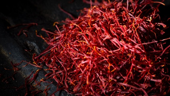 It takes 75,000 saffron blossoms to produce one pound of saffron, making it one of the world's most expensive spices. Studies have shown that it may help with depression, menstrual discomfort, and possibly Alzheimer's, but research is inconclusive for a positive impact on erectile dysfunction, asthma, cancer and many other conditions.<br /><br />Use in food is considered safe, but when taken medicinally, large doses may be toxic. Even smaller doses could cause miscarriage and heart and blood pressure issues.