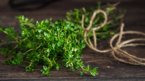 Eating the flowers, leaves and oil of the herb thyme, either alone or in conjunction with other herbs, may have some benefit for symptoms of colds and bronchitis, especially coughs. But research into other uses, such as agitation, hair loss and movement disorders, is still inconclusive. <br /><br />Use in food is considered safe, but the use of supplements is not advised before surgery or if you have a bleeding disorder or a hormone-sensitive cancer such as breast or ovarian cancer.