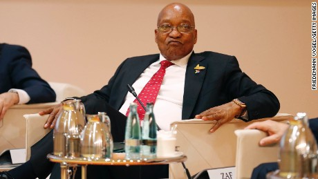 President Jacob Zuma at a G20 leaders retreat on July 7, 2017, in Hamburg, Germany.