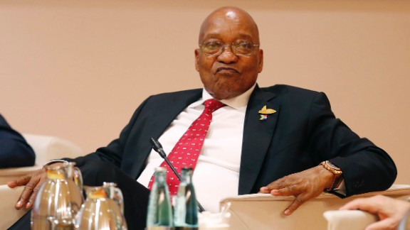 President Jacob Zuma at a G20 leaders retreat on July 7, 2017, in Hamburg, Germany.