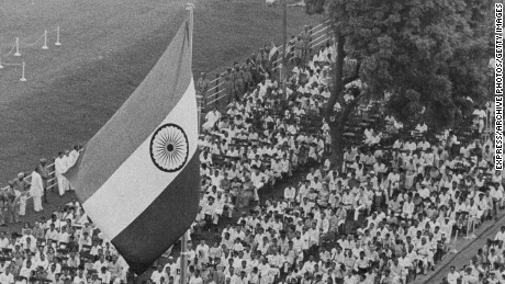 India marks 14 years of independence; President Nehru addressing immense crowd before Delhi's Red Fort, India, August 18th 1960. (Photo by Express/Archive Photos/Getty Images)