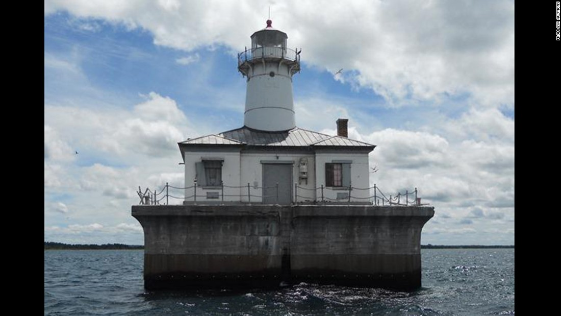 "This offshore lighthouse, dubbed the Fourteen Foot Shoal Light, is billed as ""a piece of maritime history."" It's located in Lake Huron, near Cheboygan, Michigan."