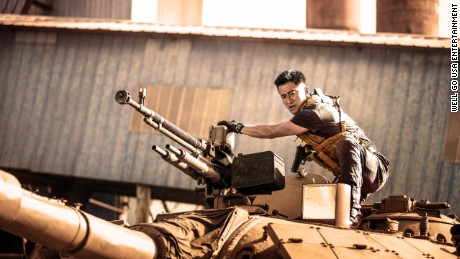 "A still from the patriotic Chinese film ""Wolf Warrior 2,"" which was released to huge box office success in 2017."