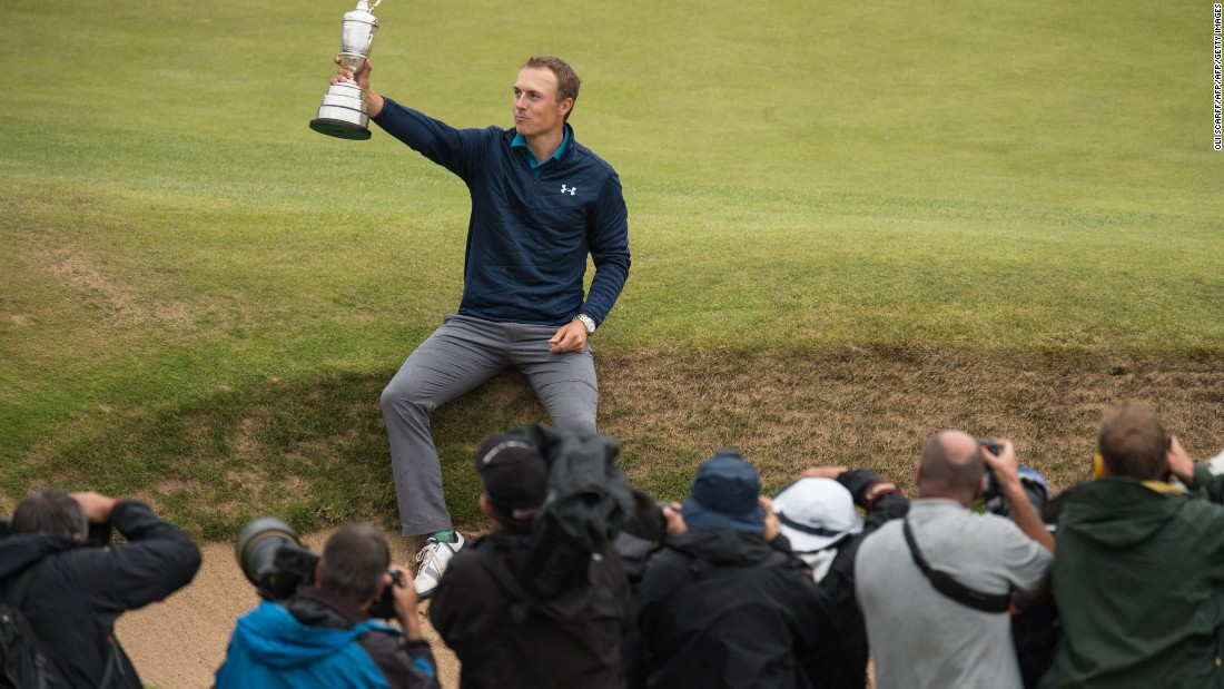 37382ef672dabc This comes off the back of holding his nerve during a wayward final round  at Royal. Photos  Jordan Spieth s ...