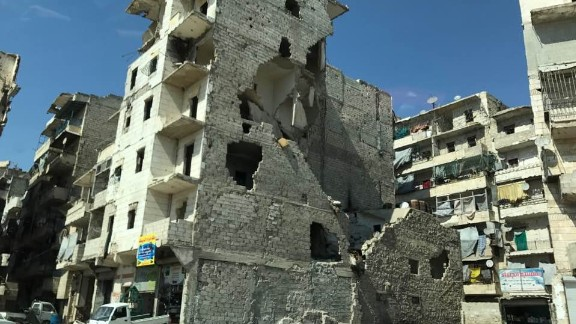 The city of Aleppo and its old town. In ruins, but finally quiet. There is a lot to rebuild.