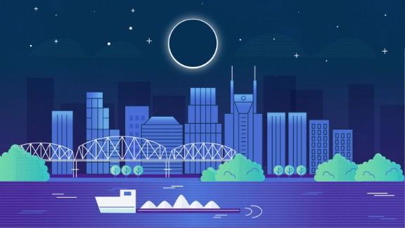 Nashville: 100% obscured at 1:28 p.m.