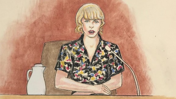 Taylor Swift took the stand in a civil trial on Thursday.