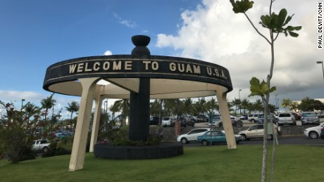 Officials in Guam: 'Do not look at the flash'