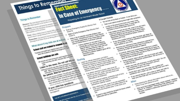 The fact sheets that officials in the territory of Guam gave residents in August.