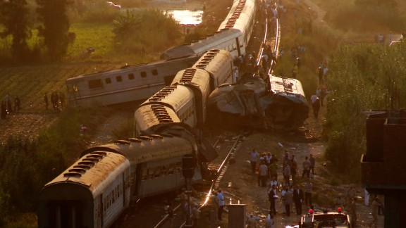The collision involved one train traveling from Cairo and another from Port Said.