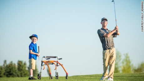 Kyle Miller hasn't let cerebral palsy get in the way of his golf dreams