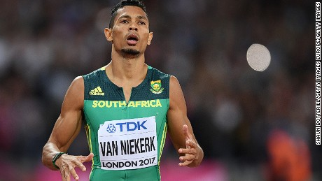 Wayde van Niekerk won the silver medal in the 200m at the World Athletics Championships