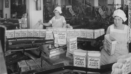 Robust ad campaigns helped Kellogg's Corn Flakes become known as a convenient, ready-to-eat breakfast in the early 20th century.