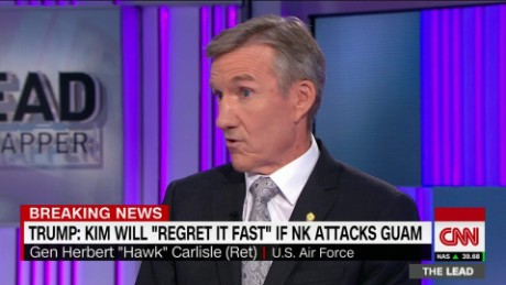 lead hawk carlisle north korea threat donald trump jake tapper _00024409