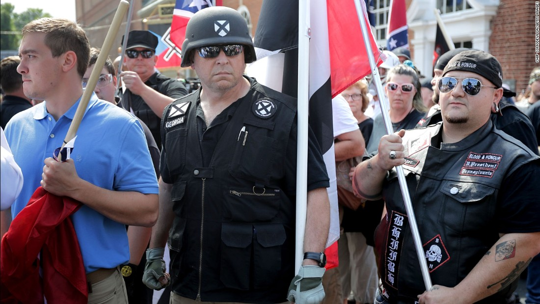 'Blood and soil': Protesters chant Nazi slogan in ...