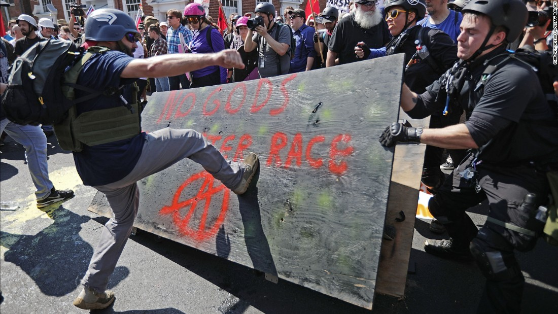 "White nationalists, neo-Nazis and members of the ""alt-right"" clash with counterprotesters."