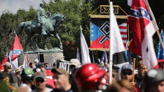"A Confederate statute in Charlottesville, Virginia, was a flash point  in August 2017's ""Unite the Right"" rally."