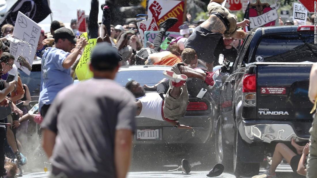 Car Crash Charlottesville Nazi