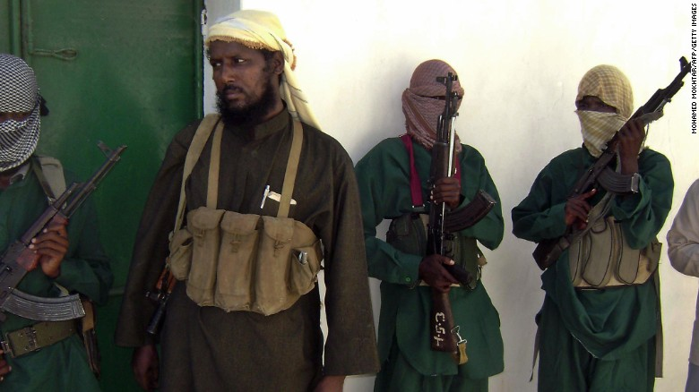 File photo of Robow Abu Mansur from when he was the spokesperson for Somalia's Al-Shabaab militant group in 2008.