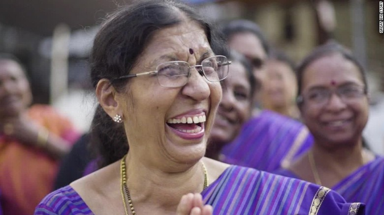 The serious business of laughter yoga