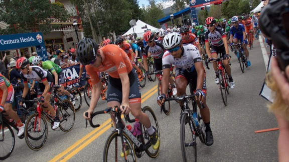 The second day of racing began and ended on main street Breckenridge, a pretty mining-cum-ski town 80 miles from Denver.