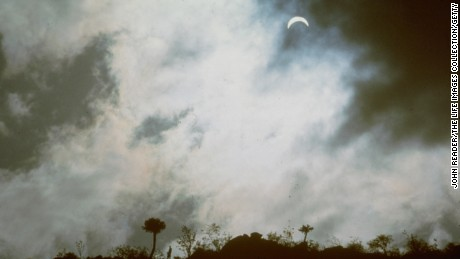 A total solar eclipse in Kenya on June 30, 1973.