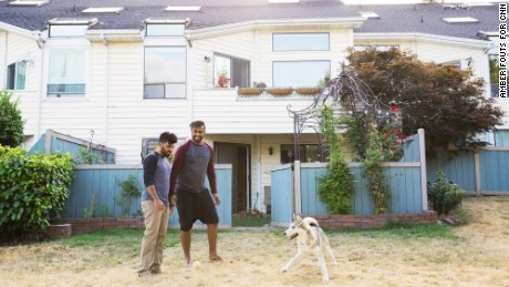 Hrebid and Allami live in Seattle  with their dog, Cesar. They open their home to LGBT people who've fled the Middle East.