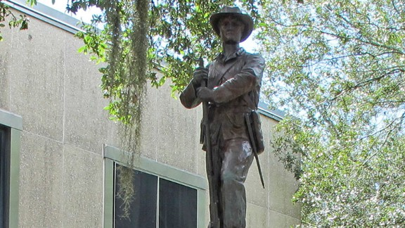"""The statue of  """"Old Joe"""" in Gainesville, Florida."""