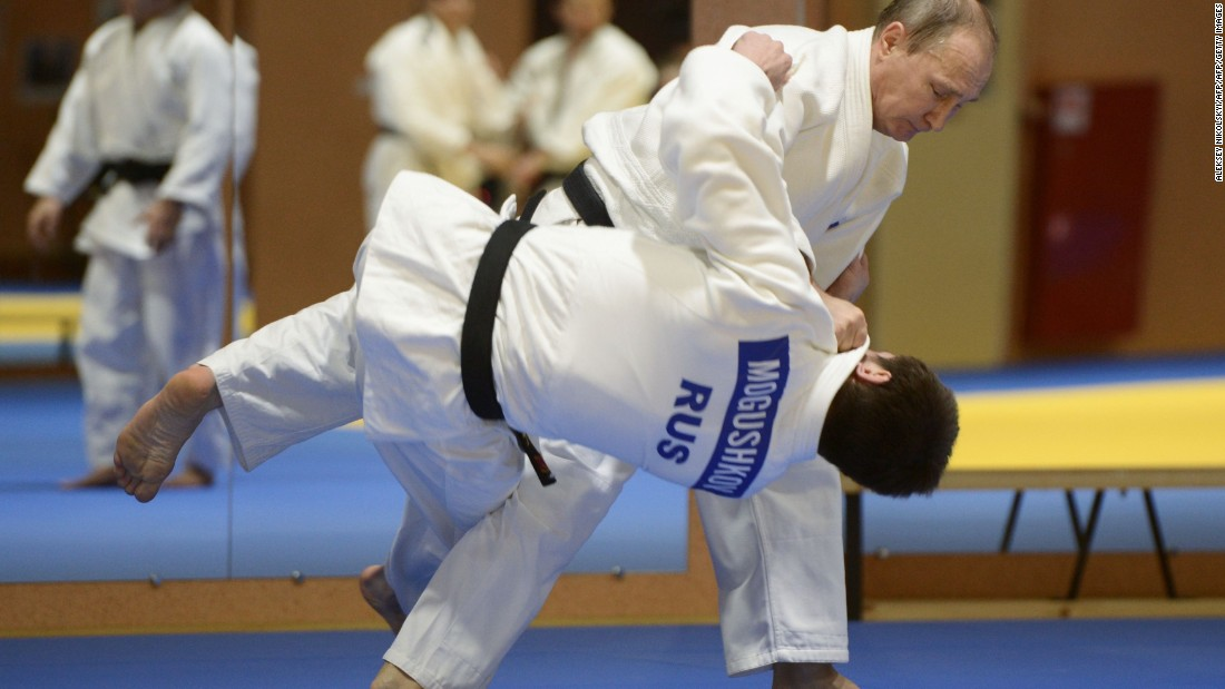 Putin is apparently the first Russian to be given 8th dan black belt status and has even co-authored books on the sport.