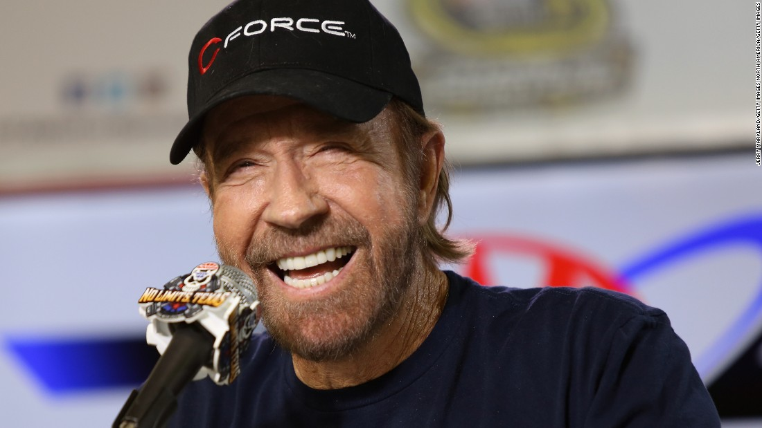 American actor Chuck Norris is renowned for his love of martial arts, both on and off the screen. He is a brown belt in judo.