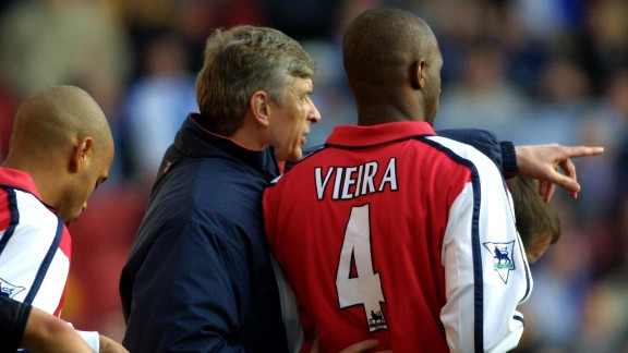 Patrick Vieira embodied the physical power of Arsene Wenger