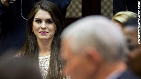 Hope Hicks becomes the story