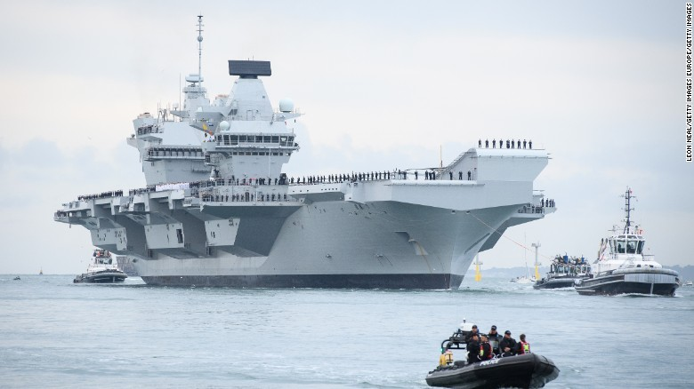 HMS Queen Elizabeth arrives at Portsmouth - CNN