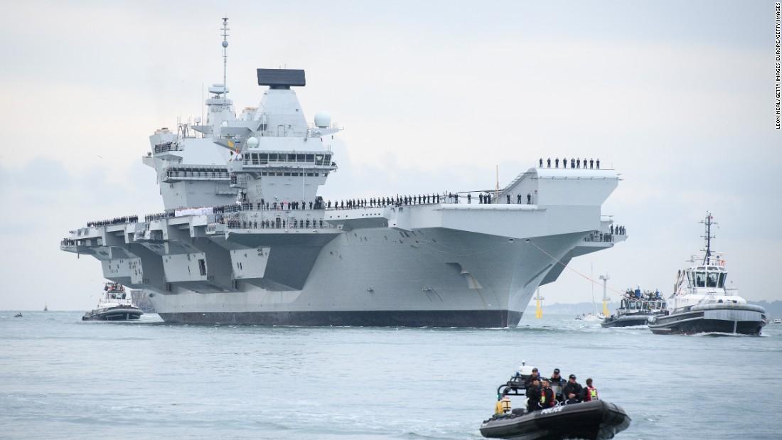 Britain's new $3.8 billion aircraft carrier just sprang a leak
