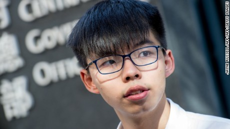 Joshua Wong and two other Umbrella Movement leaders jailed in Hong Kong