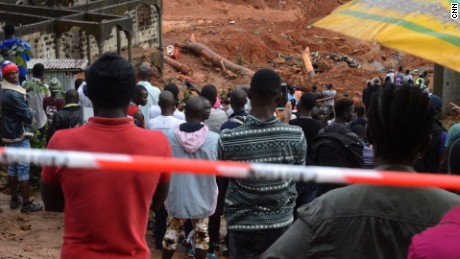 The deadly mudslides have left many survivors shell-shocked in Sierra Leone.