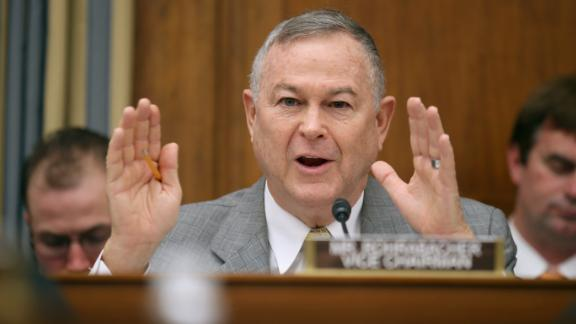 House Science, Space and Technology Committee member Rep. Dana Rohrabacher, a California Republican, questions witnesses during a hearing in the Rayburn House Office Building on Capitol Hill in March 2013.  (Chip Somodevilla/Getty Images)
