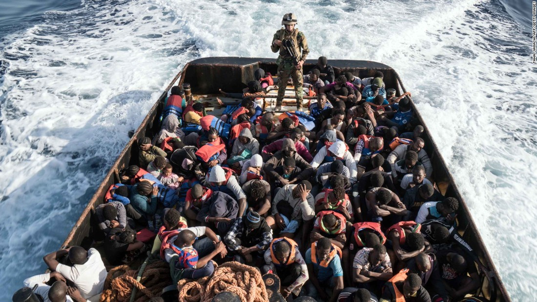 migrants to the coast The rescue vessel rescued 43 migrants attempting to cross to europe.