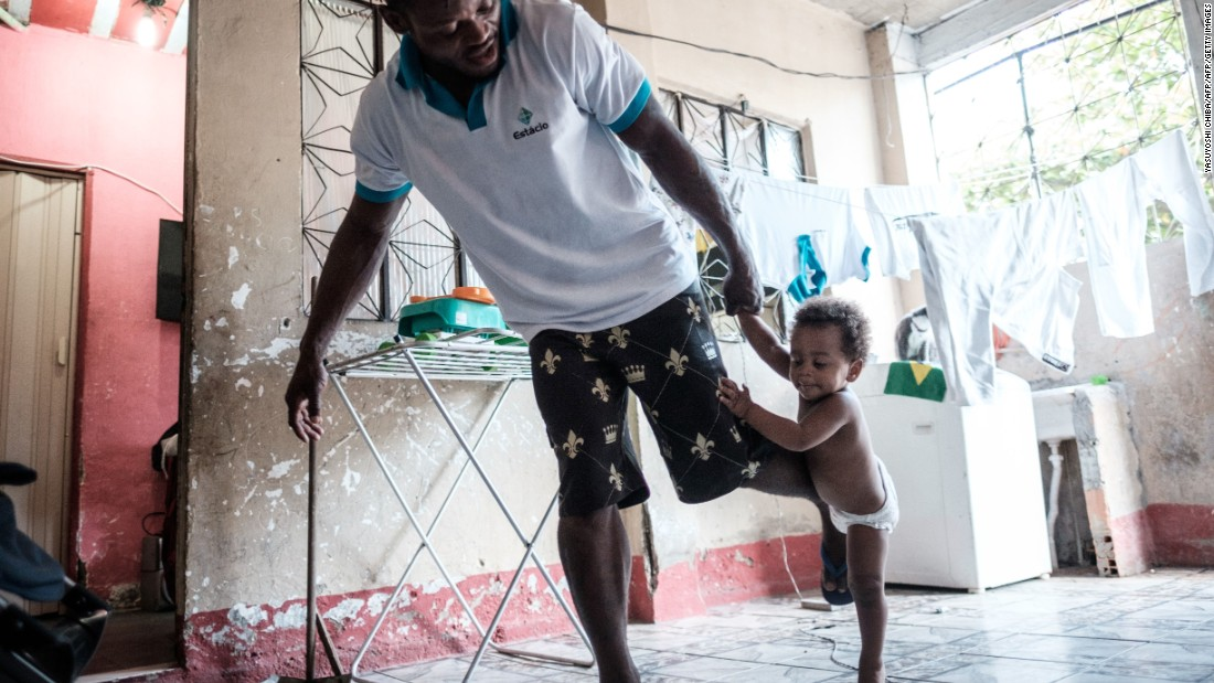 Misenga now has a new family in Rio, living in one of the city's many favelas with his Brazilian partner and their children.