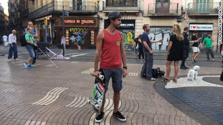 Cristiano Grazioli lives a stone's throw from Las Ramblas. He was at home at the time of yesterday's attack and hadn't emerged since.