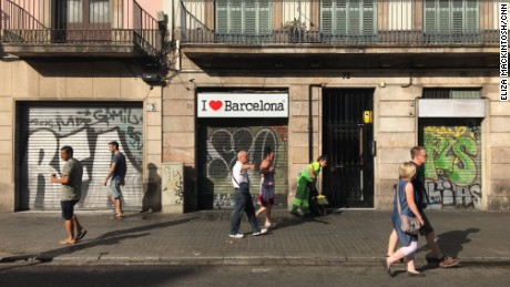 Tourists and residents are out and about in Barcelona, less than 24 hours after a deadly terror attack on Las Ramblas, a busy thoroughfare in the city center.