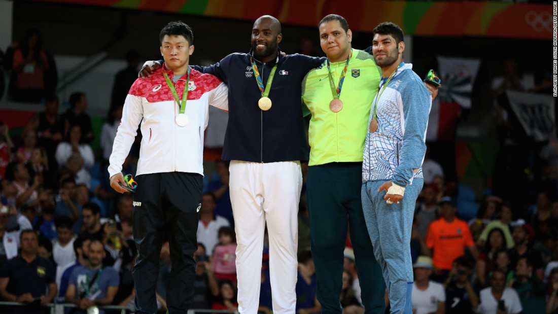 It was the third Olympic medal of Riner's illustrious career, also winning a bronze medal as a 19-year-old at Beijing 2008.
