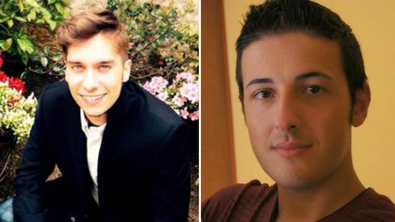 Luca Russo, left, and Bruno Gulotta were among the Italians who died in the Barcelona attack.