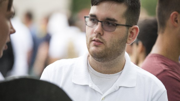 James Fields at alt right rally in Charlottesville, Virginia on August 12.