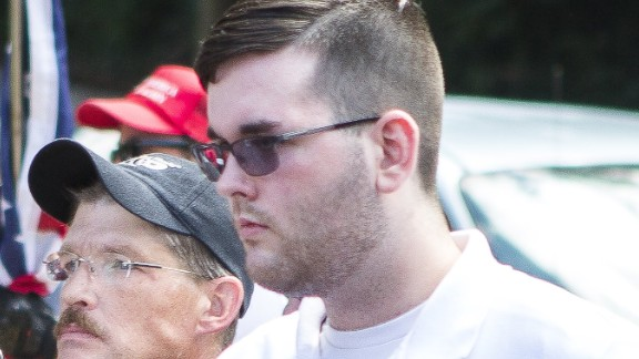James Fields, right,  at alt right rally in Charlottesville, Virginia on August 12.