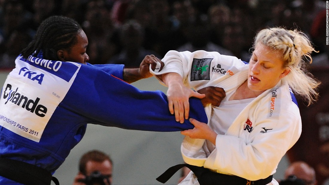 That proved to be her only world championship gold. The next year, Harrison lost to familiar foe Tcheumeo in the semifinal and went on to claim bronze.