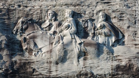 At Georgia's Stone Mountain, hikers try to rise above its racial history