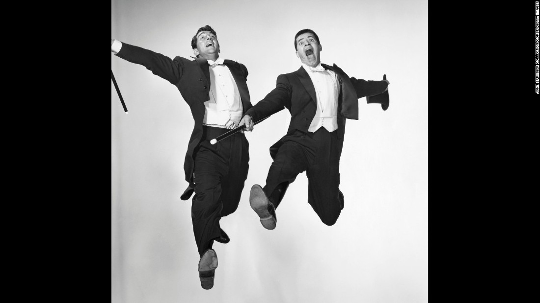 Lewis joined forces with singer Dean Martin in 1946 and they became a hugely popular duo. Martin and Lewis were comedy partners for 10 years.