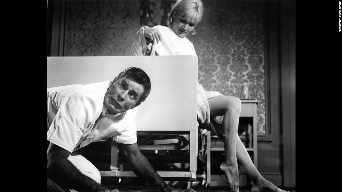 "Lewis' film heyday was the '60s. Here, he stars with Susan Oliver in 1964's ""The Disorderly Orderly."""